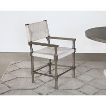 Palma Arm Chair in Rustic Gray Finish