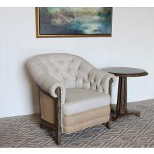 Natural Linen Deconstructed Club Chair