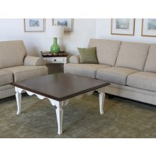 White Scalloped Coffee Table