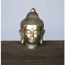Medium Chrome Buddha Head