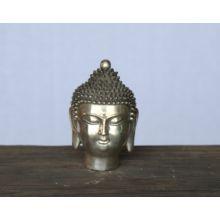 Small Chrome Buddha Head