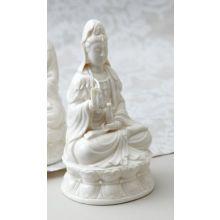White Porcelain Goddess Statue