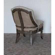 Natural Linen Deconstructed Lounge Chair