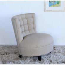 Bonn Chair in Natural Linen Upholstery