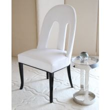 Oly Maude Side Chair in White Leather