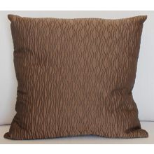 Bronze Wave Stitch Pillow