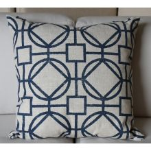 Blue Lattice Pillow