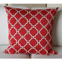 Red Temple Symmetry Pillow