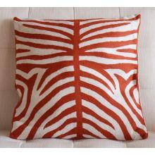 Orange Tiger Stripes Pillow