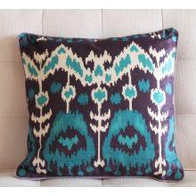 Aqua and Lavender Ikat Pillow