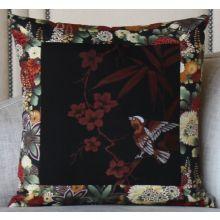 Singing Bird on the Bamboo Tree Pillow