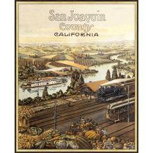 San Joaquin County 25.5W x 31.5H